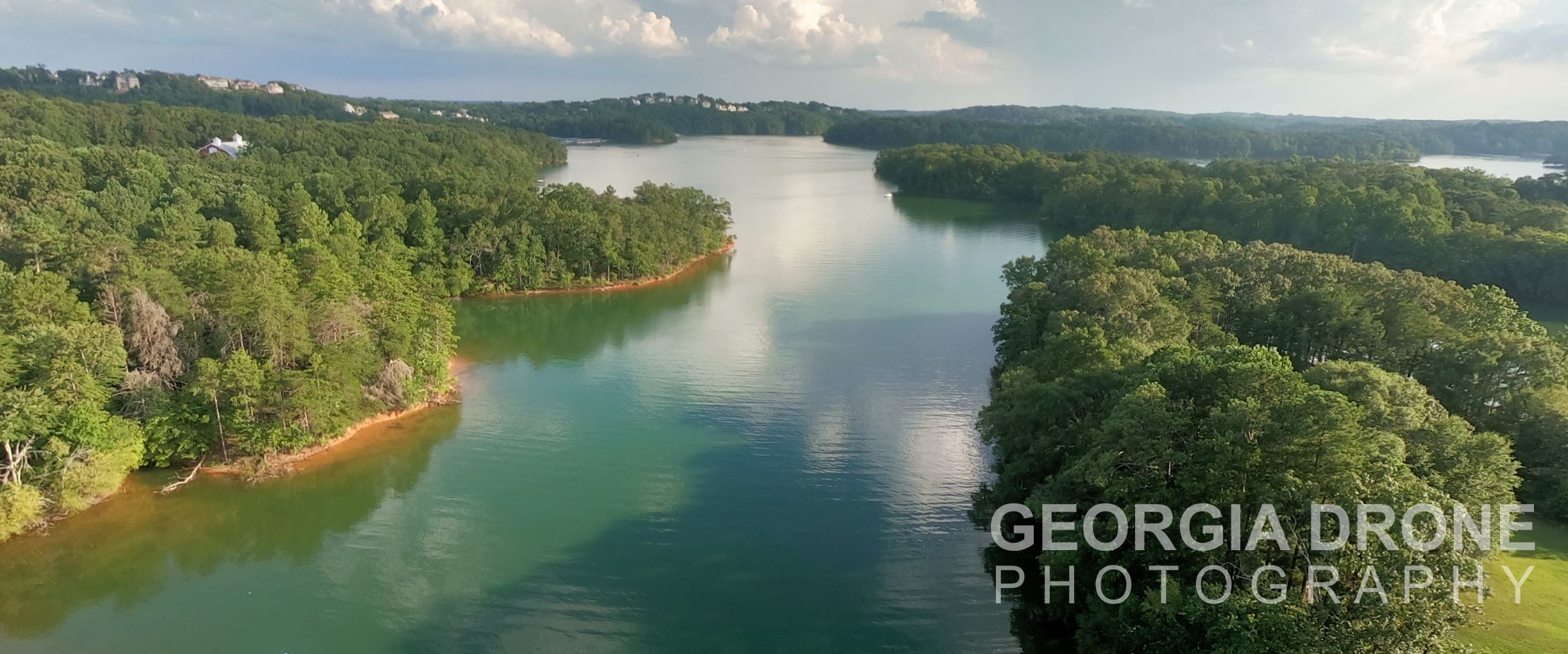 Drone photography of Lake Lanier real estate for sale.